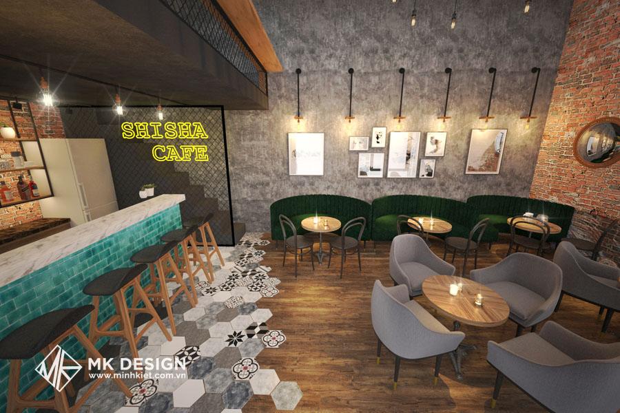 Mẫu thiết kế không gian quán cafe nhỏ đẹp 1