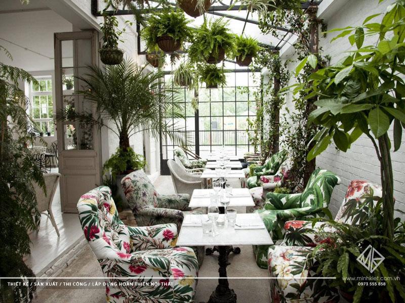 Mẫu thiết kế quán cafe sân vườn đẹp 1