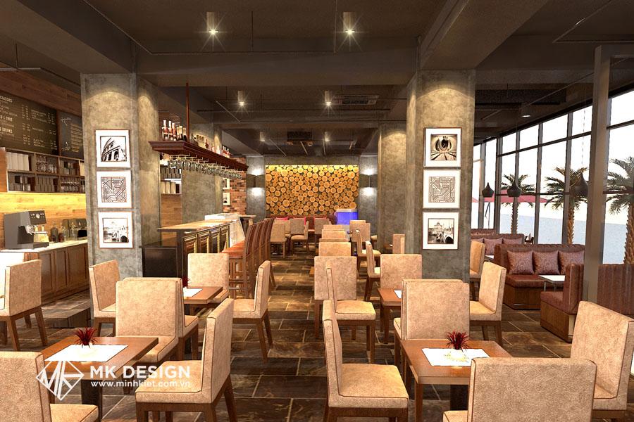 Mẫu thiết kế không gian quán cafe nhỏ đẹp 2