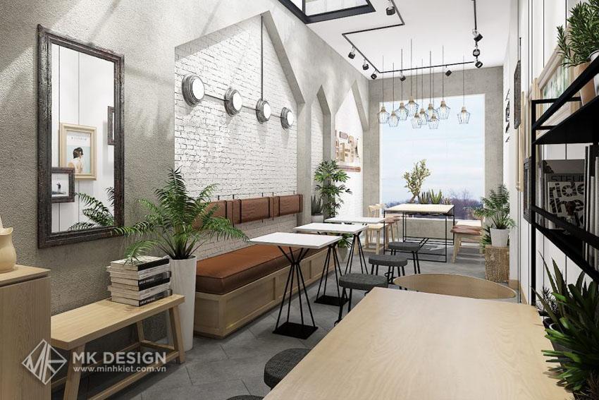 Mẫu thiết kế không gian quán cafe nhỏ đẹp 3
