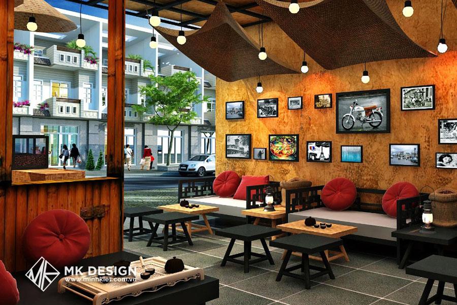 Trang trí không gian quán cafe đẹp 1