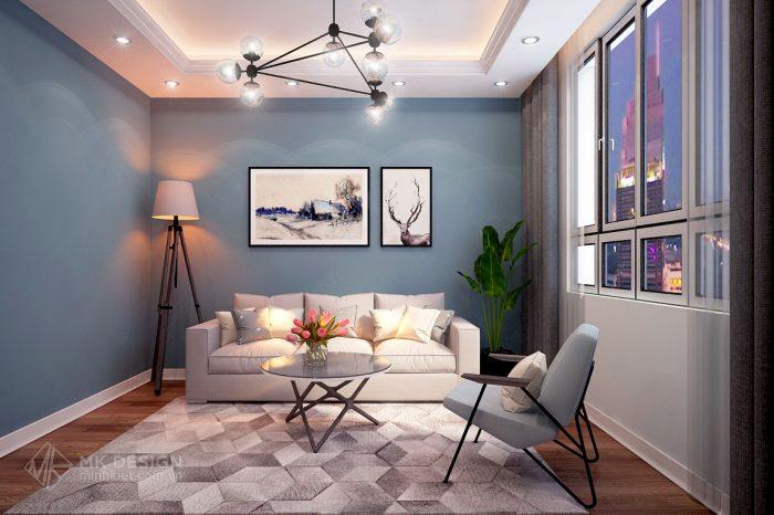 thiết kế nội thất chung cư Hoàng Cầu