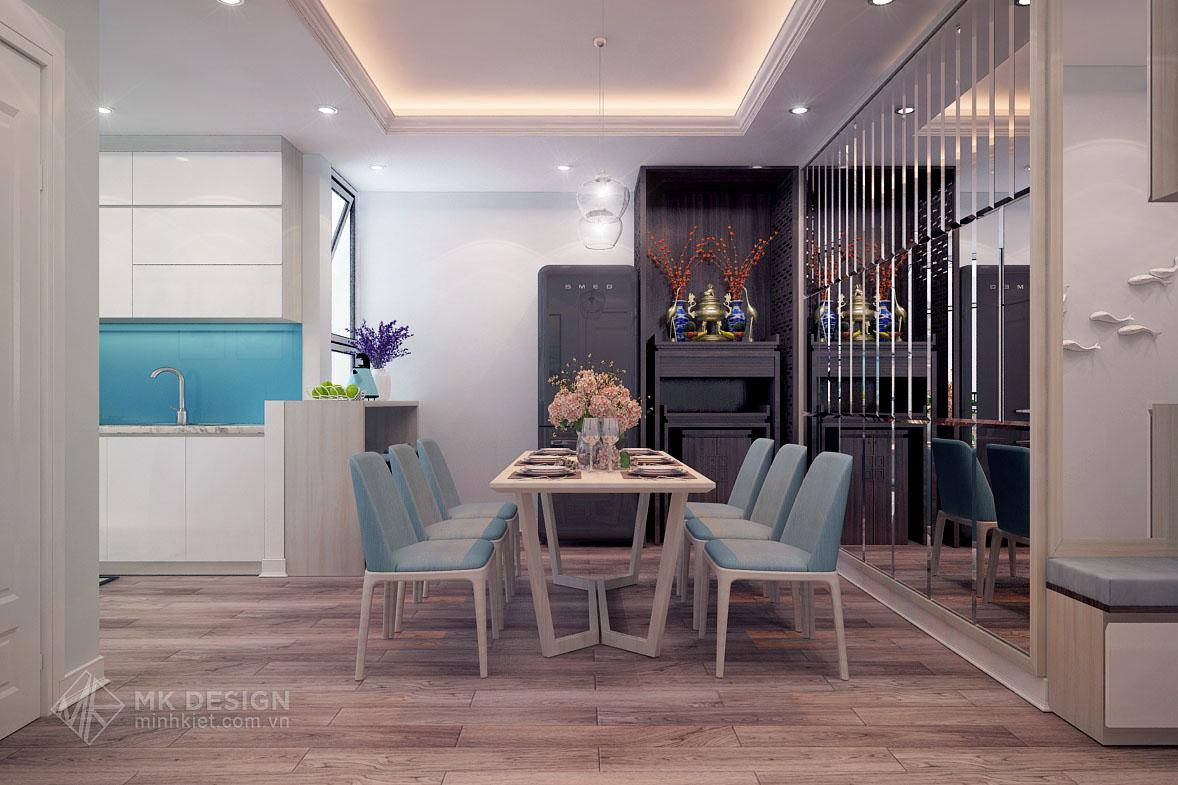 thiết kế nội thất chung cư Hoàng Cầu-03