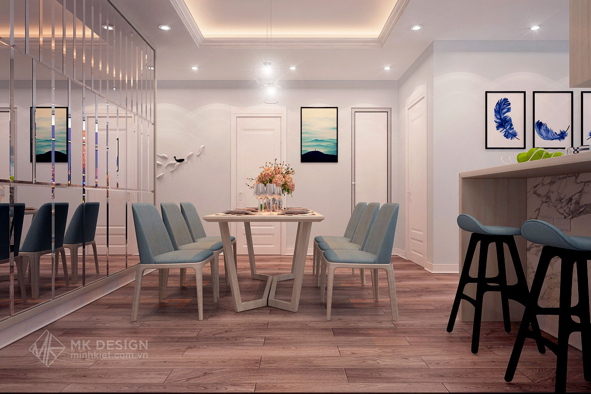 thiết kế nội thất chung cư Hoàng Cầu-04