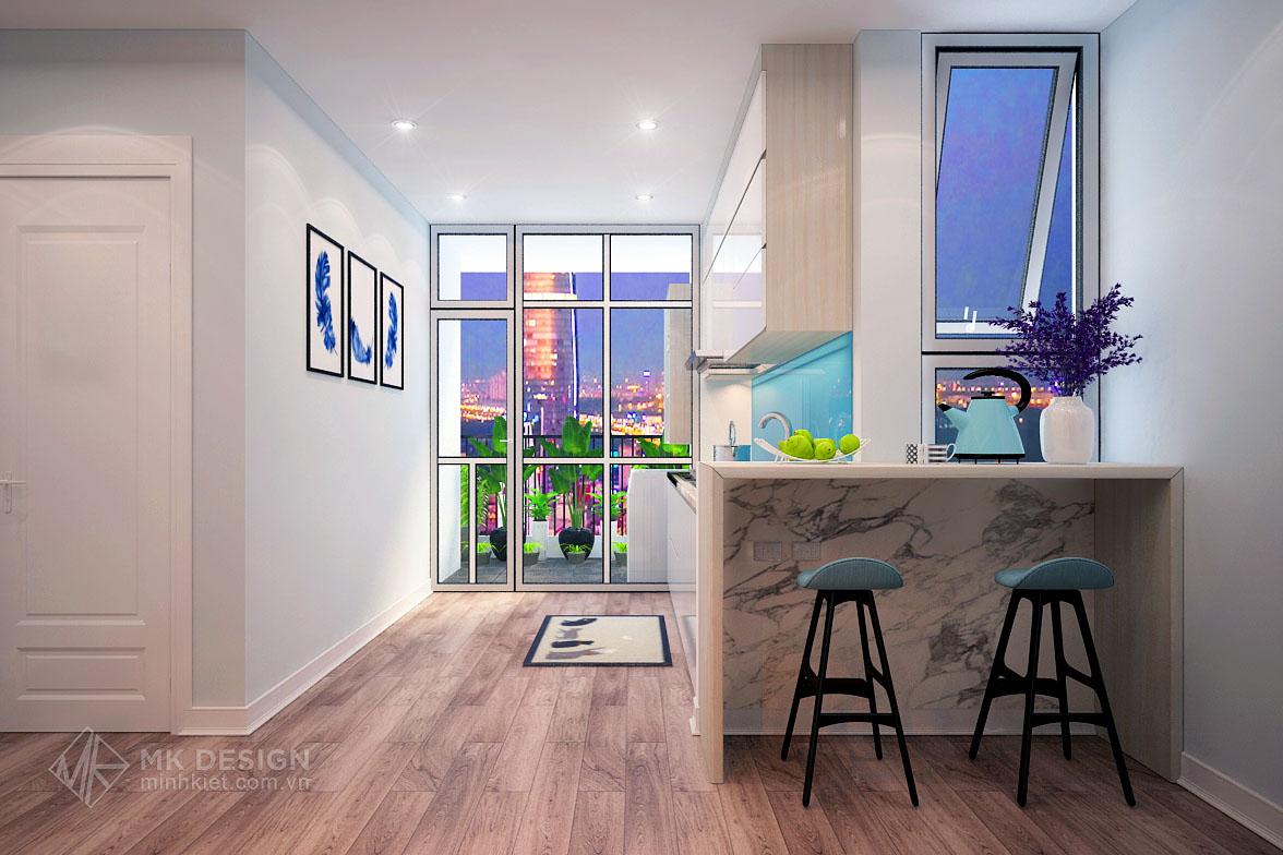 thiết kế nội thất chung cư Hoàng Cầu-05
