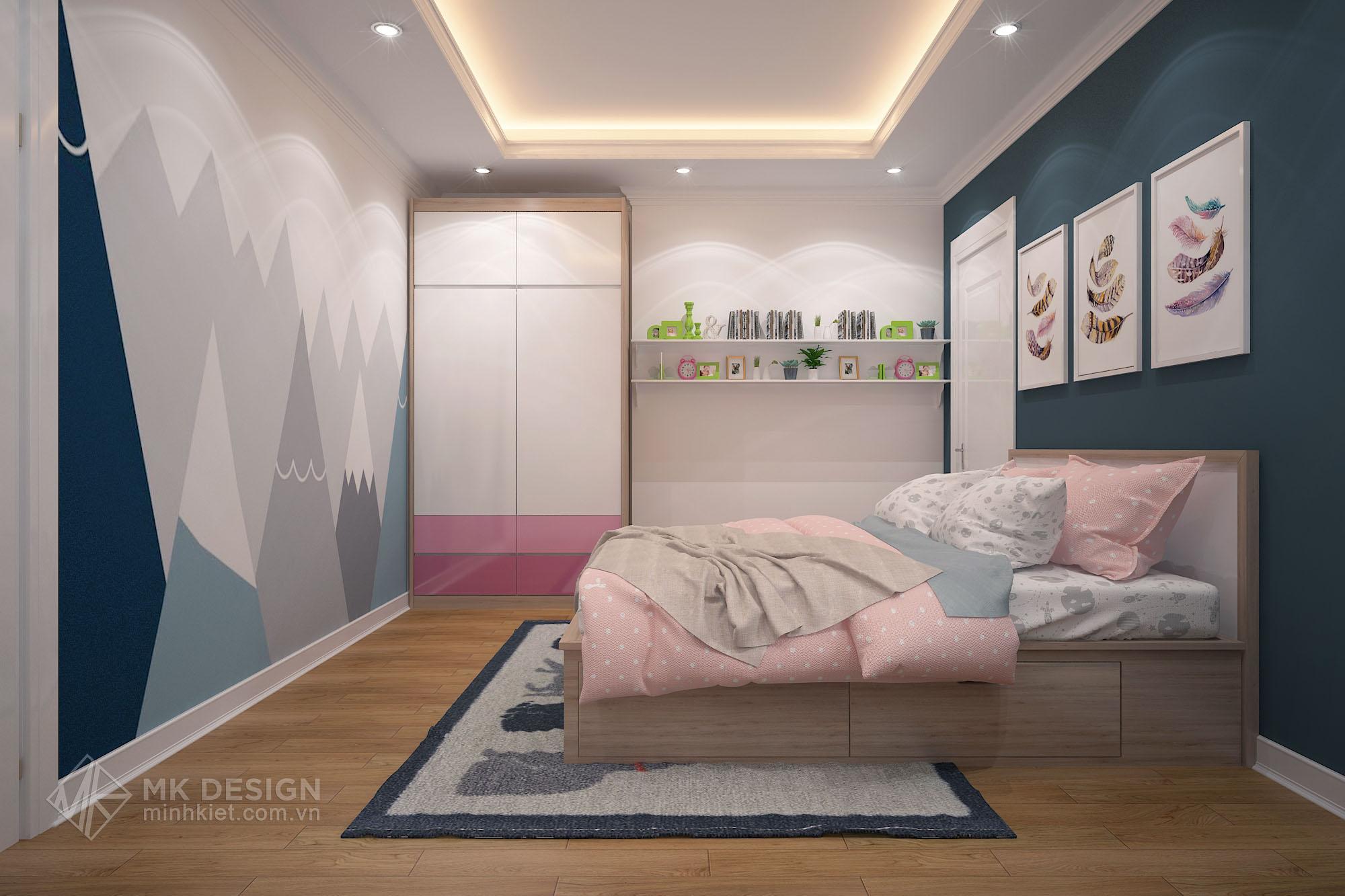 thiết kế nội thất chung cư Hoàng Cầu-07