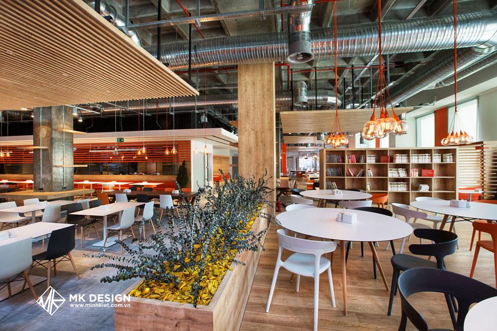 Thiết kế quán cafe phong cách công nghiệp 1