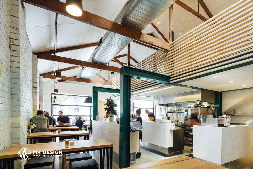 Mẫu thiết kế quán cafe phong cách đương đại 3
