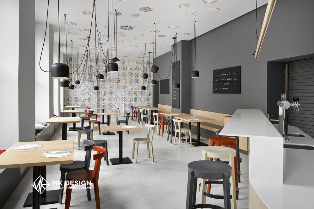 Mẫu thiết kế quán cafe đẹp, mộc mạc 1
