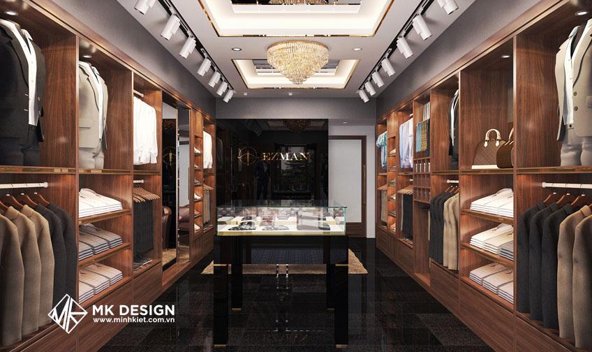 Thiết kế nội thất shop nam