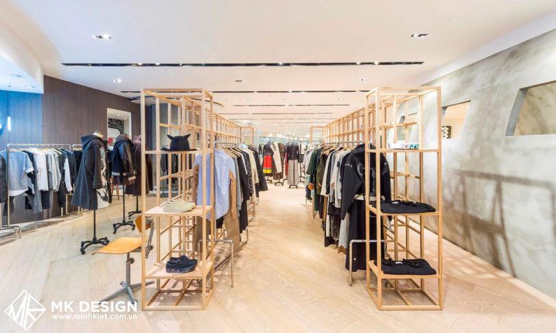 Shop thời trang có thiết kế đơn giản mà ấn tượng