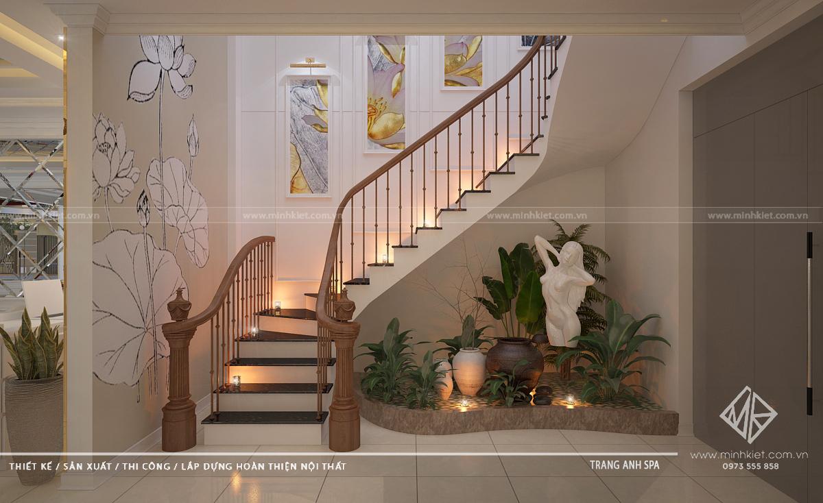 Khu vực cầu thang dẫn lên tầng trên