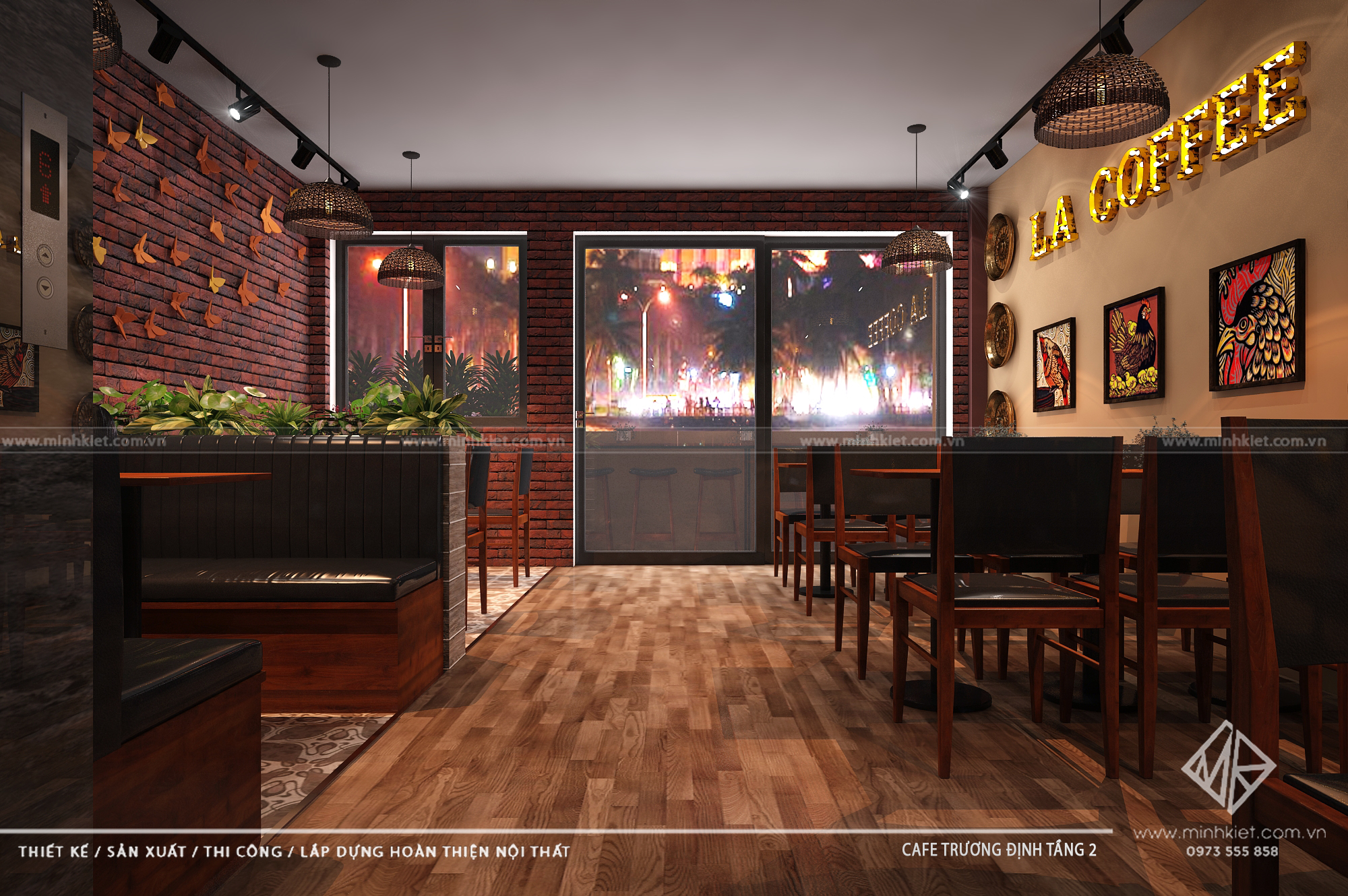 Thiết kế La Coffee - Trương Định