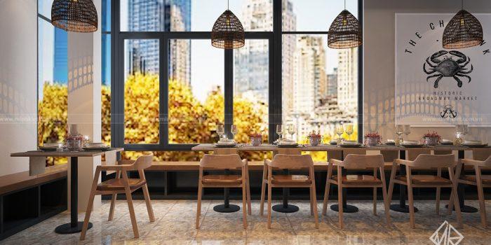 ý tưởng thiết kế nội thất nhà hàng