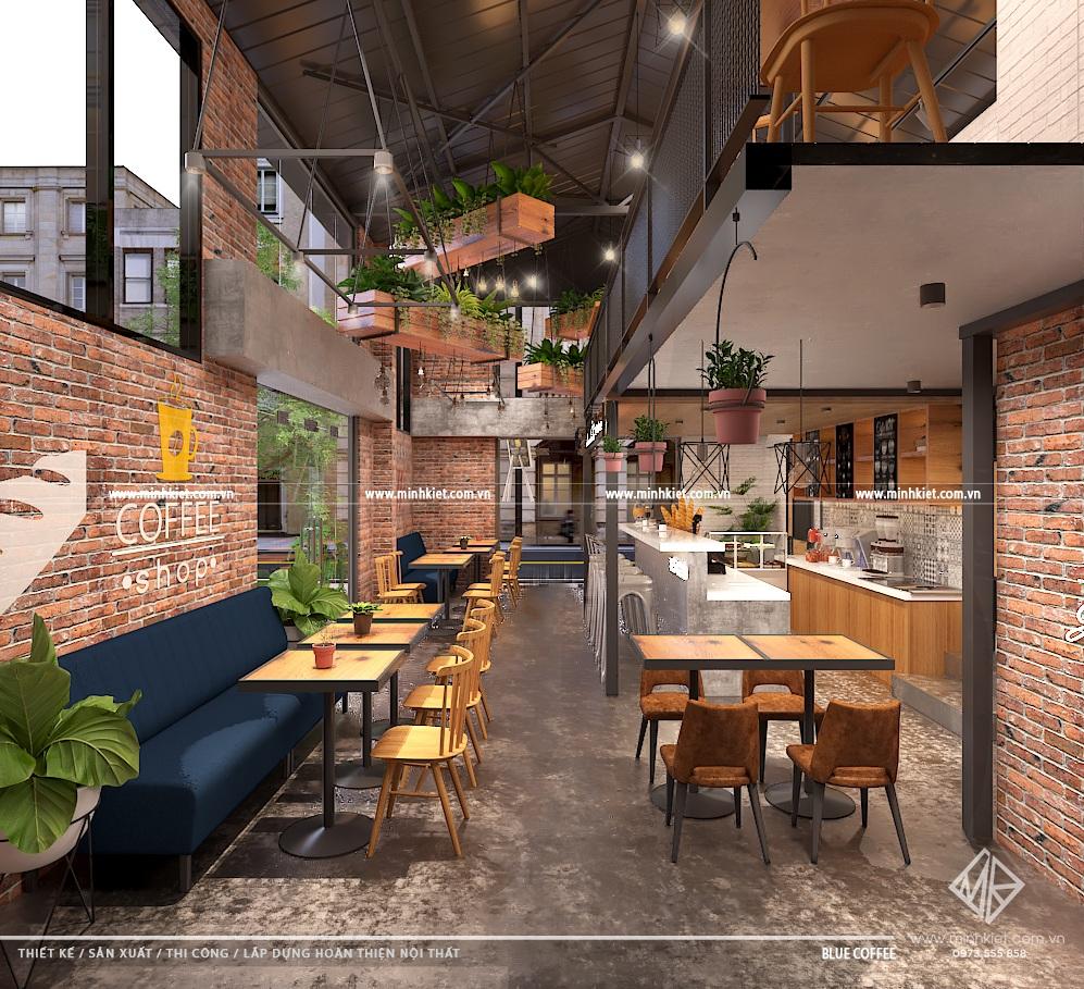 Mẫu thiết kế quán cafe nhỏ đẹp độc đáo 2020