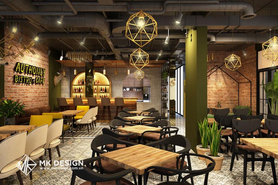 Thiết kế quán cafe theo phong cách công nghiệp