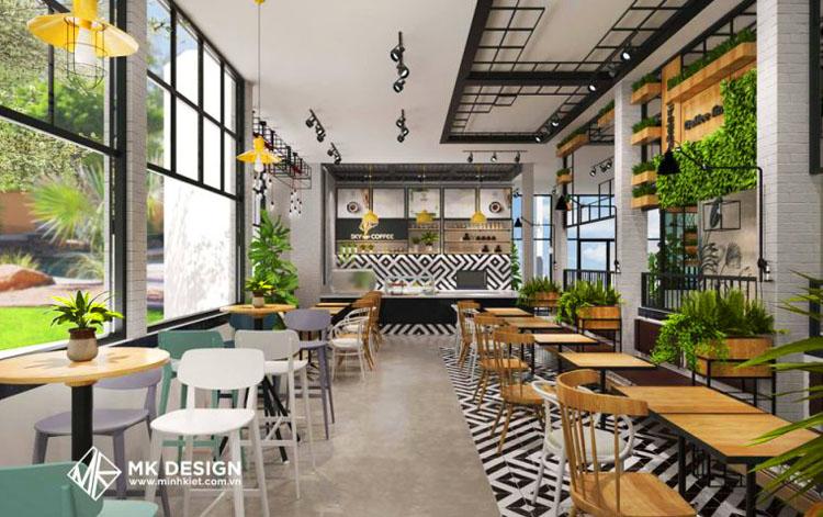 Mẫu trang trí quán cafe đẹp, hiện đại