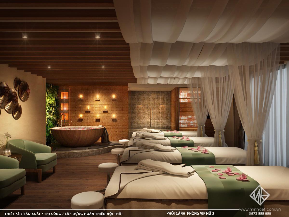Mẫu thiết kế trang trí phòng spa đẹp hiện đại