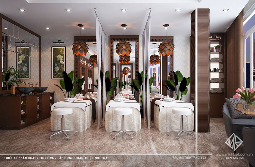 Mẫu thiết kế và trang trí nội thất Spa đẹp