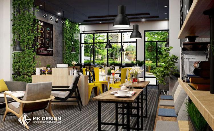 Thiết kế nhà hàng và quán cafe đơn giản nhưng độc đáo