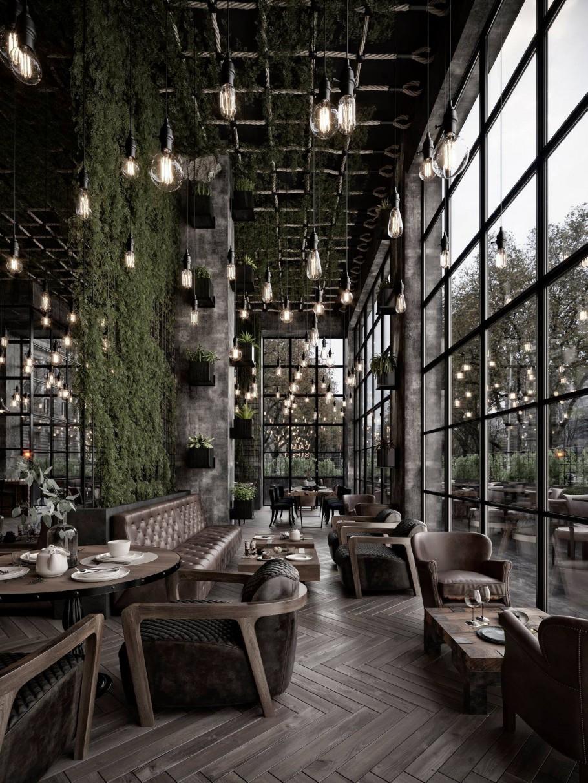 Nội thất quán cafe đẹp với điểm nhấn từ gỗ trang trí