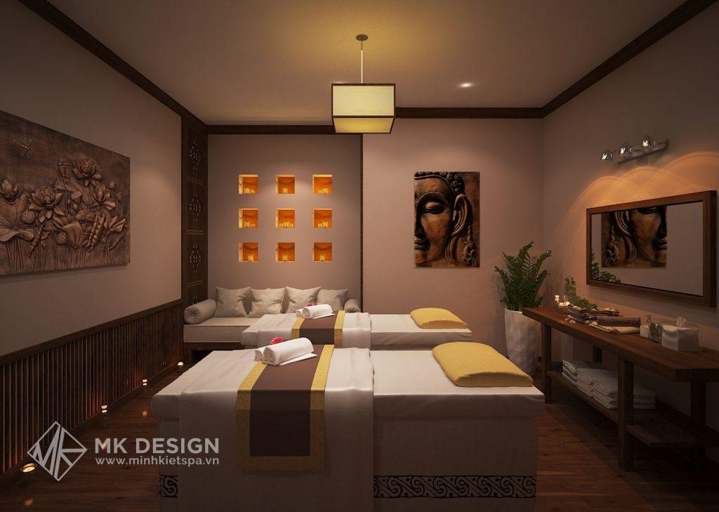 Mẫu thiết kế spa tối giản các chi tiết nội thất