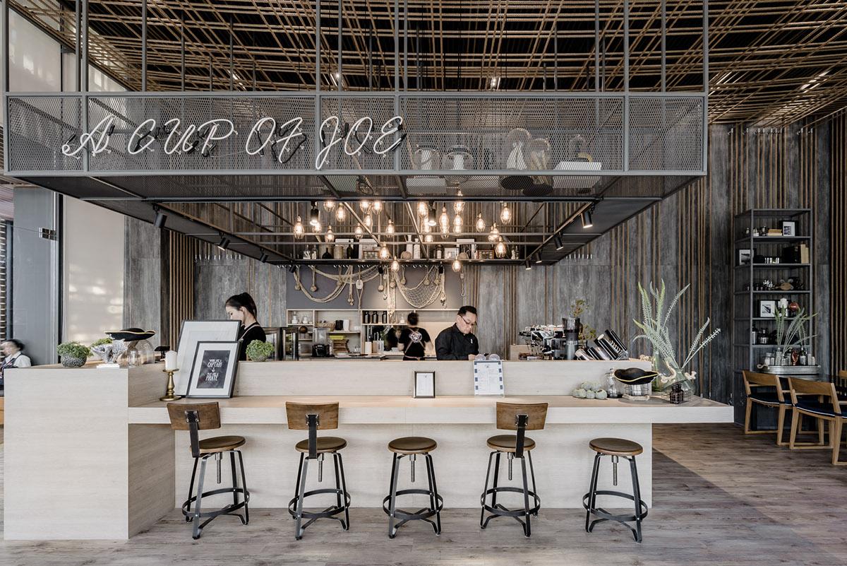 Thiết kế cafe không gian mộc độc đáo lạ mắt