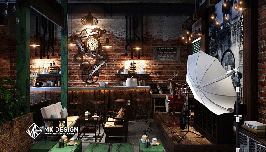 Thiết kế trang trí quán cafe phong cách xưa cũ
