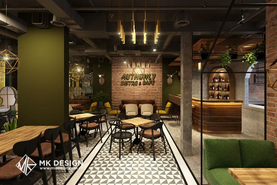 Một mẫu thiết kế nội thất quán cafe do KTS Minh Kiệt design