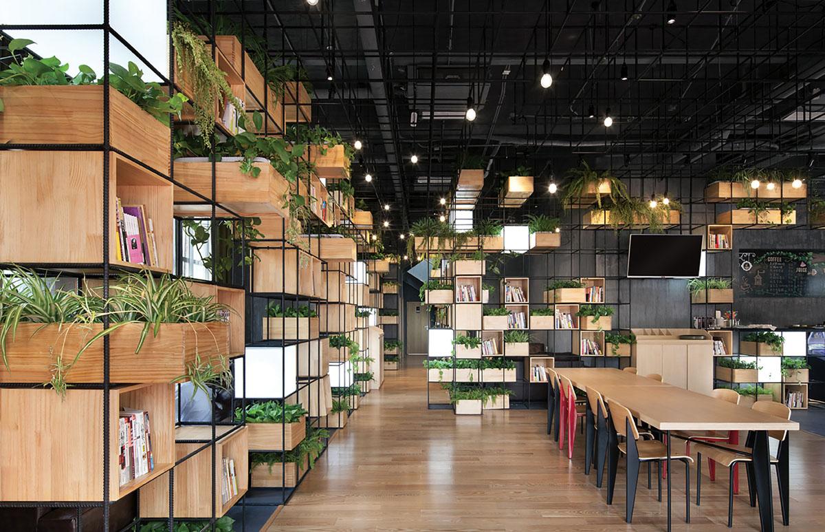 Mẫu trang trí nội thất quán cafe đẹp
