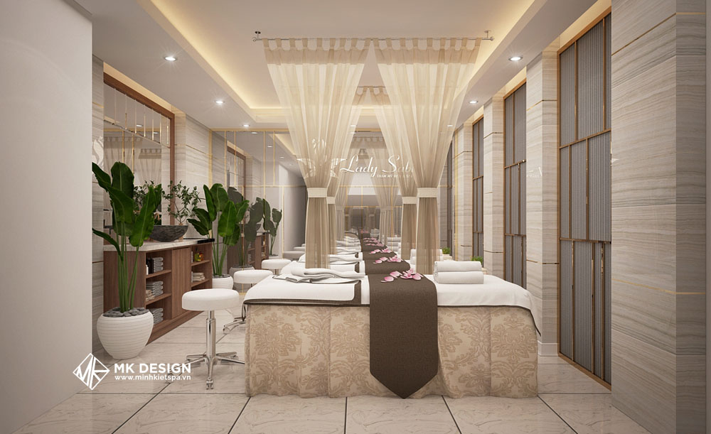 Mẫu thiết kế phòng spa cao cấp đẹp 2021